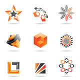 Various orange abstract icons, Set 2 Stock Photos