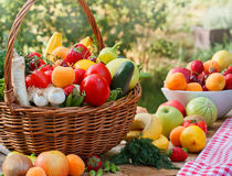 Various organic fruits and vegetables Stock Photo