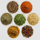 Various oriental spices Stock Photo
