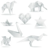 Various Origami Creations Stock Photos