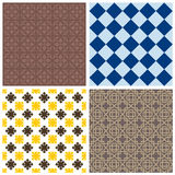 Various ornamental seamless patterns Stock Images