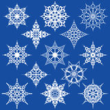 Various Ornate Snowflakes Stock Image