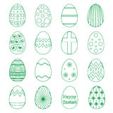 Various outline Easter eggs design collection eps10 Royalty Free Stock Photos