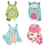 Various Owl Scrapbook Collection Stock Photo