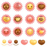 Various packing chocolate. Valentine Icon Design Series. Royalty Free Stock Photos