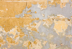 Various paint remains on the wall Stock Images