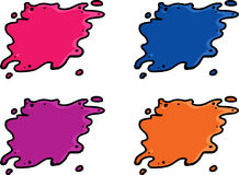 Various Paint Spills Royalty Free Stock Photos