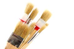 Various paintbrushes Royalty Free Stock Images