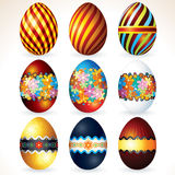 Various Painted Easter Eggs. Decorative Icons Royalty Free Stock Images