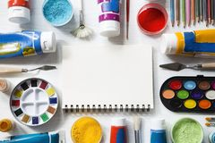 Painting equipment stock images