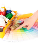 Various painting tools Stock Images