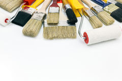 Various painting tools Stock Image