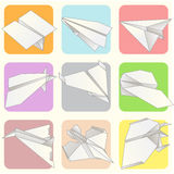Paper Plane Model Collection Set vector illustration