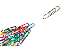 Various paper clips Royalty Free Stock Photos