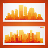 Various part cities skyline sets Royalty Free Stock Images