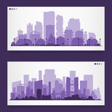 Various part cities skyline sets Royalty Free Stock Photography