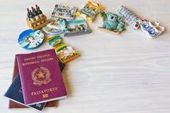 Various passports and souvenir Stock Photography