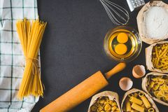 Flat lay kitchen concept Royalty Free Stock Photo