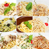 Various pasta collage Royalty Free Stock Photo