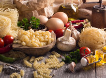 Various pastas Stock Photos