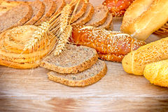 Various pastries and breads Stock Photo