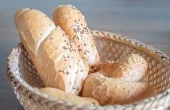 Various pastry with salt and caraway Stock Photos