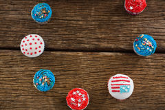 Various patriotic cupcake arranged Royalty Free Stock Photography