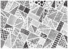 Various patterns traced Royalty Free Stock Photography