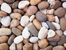 Various pebble stones texture. Abstract Royalty Free Stock Photo
