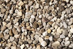 Various pebble stones texture. Stock Photography