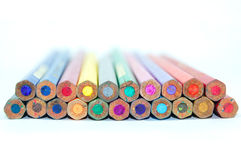 Various pencils color. Pencils color in white background Royalty Free Stock Images