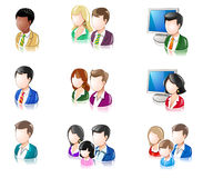 Various People Glossy IconSet 2 Royalty Free Stock Image