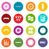 Various people icons many colors set. Isolated on white for digital marketing Stock Illustration