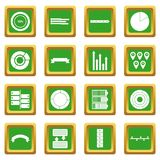 Various people icons set green. Various people icons set in green color isolated vector illustration for web and any design Vector Illustration
