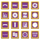 Various people icons set purple. Various people icons set in purple color isolated vector illustration for web and any design Vector Illustration