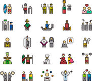 Various people and professions. A set of colorful icons of various people and various professions Stock Illustration