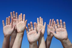 Various peoples hands Royalty Free Stock Photos