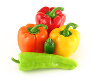 Various peppers Stock Photography