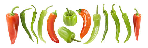Various peppers Royalty Free Stock Photography