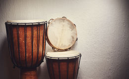 Various Percussion Instruments Stock Photo