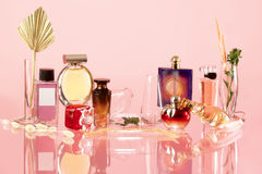 Various perfume bottles Stock Images