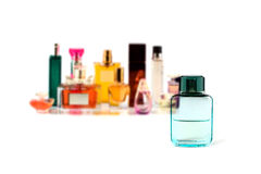 Various perfumes collection isolated on white Stock Image