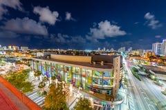 Views of the South Beach skyline royalty free stock photo