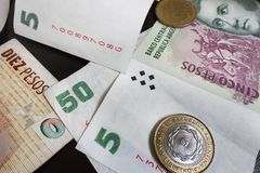 Various pesos Stock Photography