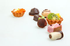 Various Petit fours Stock Photos
