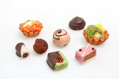 Various Petit fours Royalty Free Stock Image