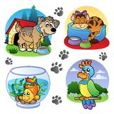 Various pets images 1 vector illustration