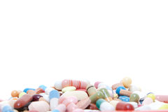 Various pharmaceuticals. All on white background stock image