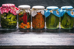 Various pickles in the pantry Royalty Free Stock Image