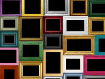 Picture Frame Frames. Modern and vintage picture frames with black spaces for copy or image Stock Photos